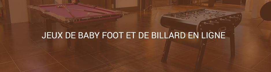 jeux babyfoot billard