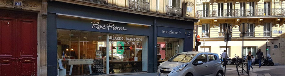 Magasin de billard René Pierre à Paris