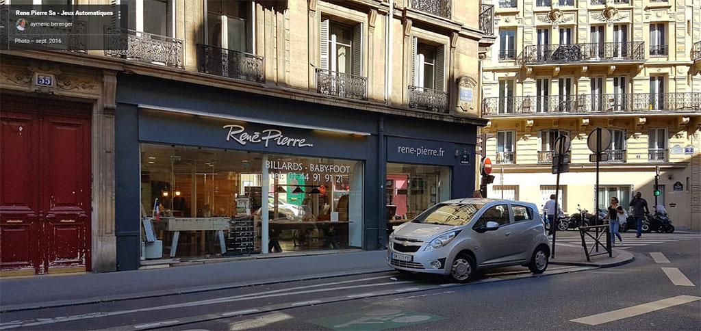 Magasin de billard René Pierre à Paris