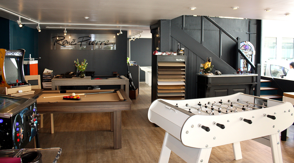 showroom baby foot et billard René Pierre lyon