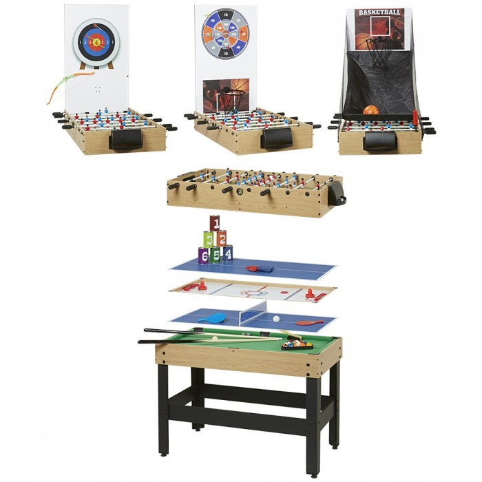 Table multi-sports qui offre 8 jeux différents dans le même meuble