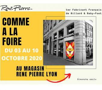 La Foire de Lyon annulée ? René Pierre vous accueille dans sa boutique de Lyon !