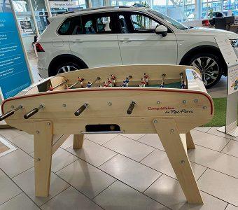 Babyfoot et automobile, une valeur commune, la convivialité.