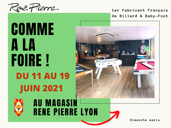 René Pierre vous accueille dans sa boutique comme à la foire de Lyon